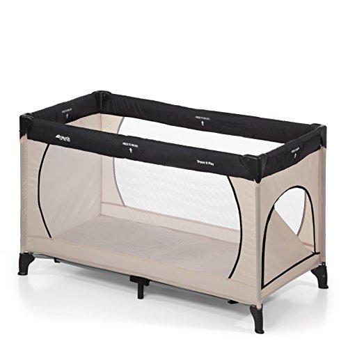 Hauck Kinderreisebett Dream N Play Plus, inkl. Hauck Reisebettmatratze, tragbar und klappbar, 120 x 60 cm, grau