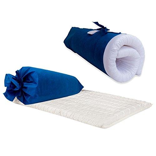 FLYIDEAS - Faltmatratze für Kinderreisebett 120x60cm | Atmungsaktiv Reisebettmatratze | Weiße Weiche Baumwolle Anti-Ersticken Matratze für Kinder | Inklusive Tragetasche