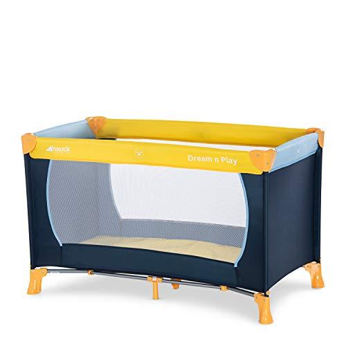 Hauck Kinderreisebett Dream N Play / inklusive Einlageboden und Tasche / 120 x 60cm / ab Geburt / tragbar und faltbar, Mehrfarbig
