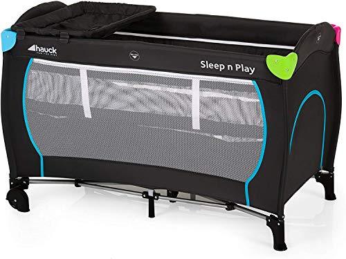 Hauck Sleep N Play Center Kombi-Reisebett, inkl. Neugeborenen-Einhang, Wickelauflage, Rollen, Matratze, Tragetasche (höhenverstellbar und faltbar), Mehrfarbig